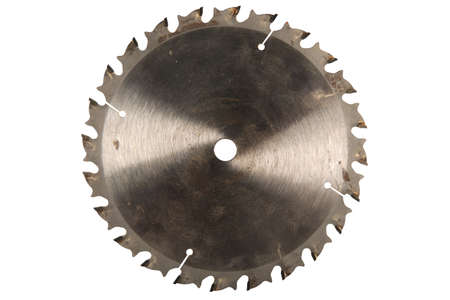 Grunge circular saw isolated over white background - With Clipping Path