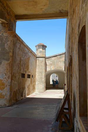 bandera de puerto rico: San Cristobal Fort en el Viejo San Juan Puerto Rico