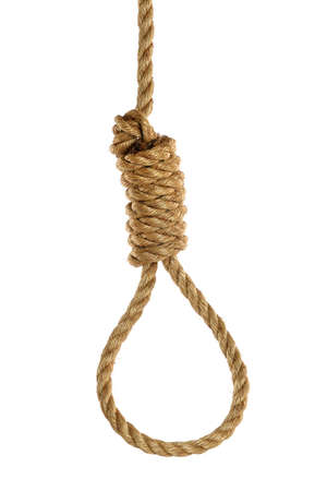 Rope noose isolated over white background 版權商用圖片