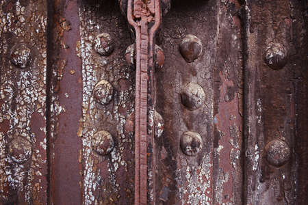 rivets: Rusted metal background with bolts and rivets Stock Photo