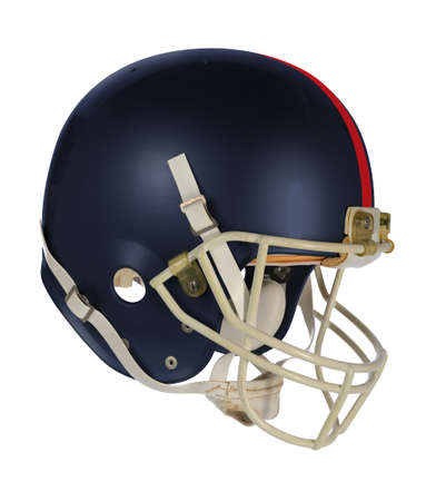 padding: Dark blue football helmet isolated over white background - With clipping path