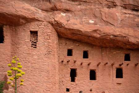 dwellings: Manitou Cliff Dwellings in Colorado Springs Stock Photo