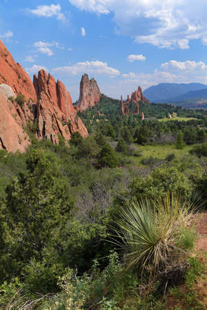 View of Garden of the Gods in Colorado Springs Banque d'images