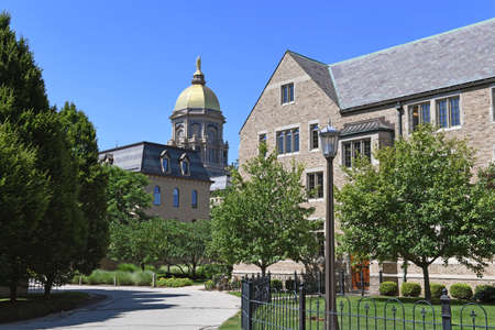 notre: South Bend, IN, USA – June 24, 2016: University of Notre Dame campus in  South Bend, Indiana.
