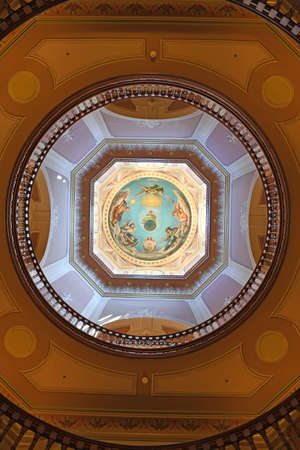 South Bend, IN, USA – June 24, 2016: Interior of Golden Dome at the University of Notre Dame campus in  South Bend, Indiana.