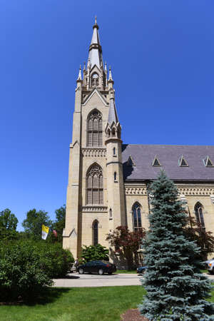 South Bend, IN, USA – June 24, 2016: Cathedral at the University of Notre Dame campus in  South Bend, Indiana. Éditoriale