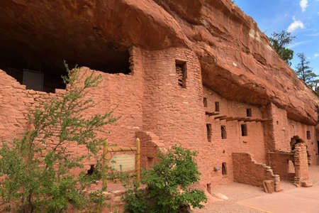 Outside view of Manitou Cliff Dwellings near Colorado Springs Stock Photo