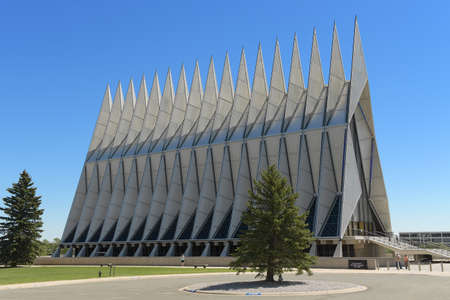 Colorado Springs, CO, USA – July 23, 2016: Air Force Academy Chapel in Colorado Springs, Colorado.