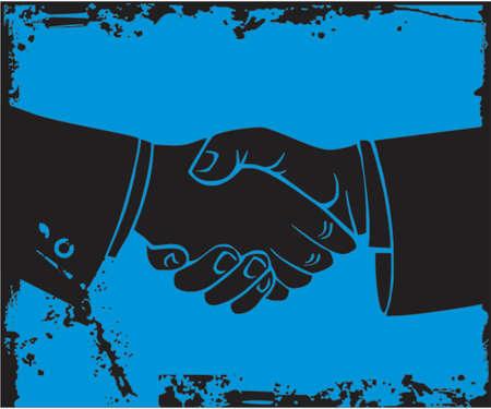 negotiations: Dos hombre de negocios agitar la mano.  Vectores