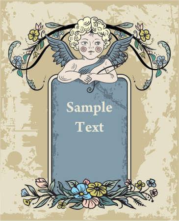 victorian valentine: angel love label