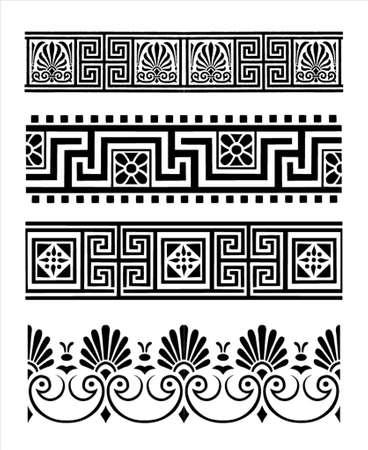 ornaments vector: Greco ornamenti