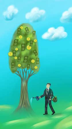 establishing: Money tree Stock Photo