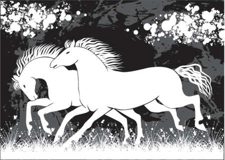 Couple of horses Vector