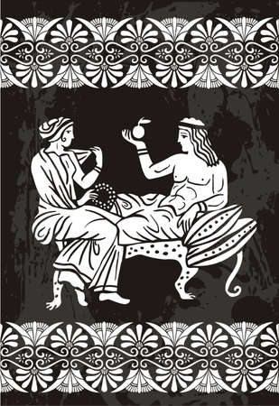 antique woman: greek Illustration