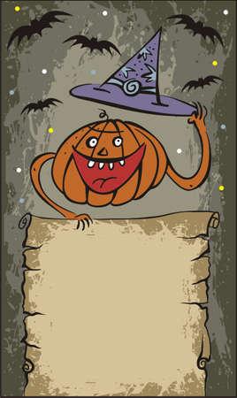 ghastly: vector halloween pumpkin Illustration