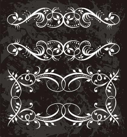ornaments vector: Cornice