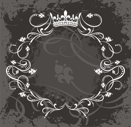 round logo: Frame Illustration