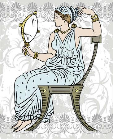 greek female Illustration