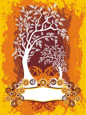 engraving print: Tree