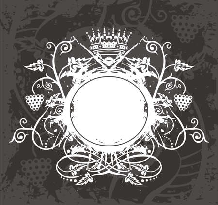 circular silhouette: Frame Illustration