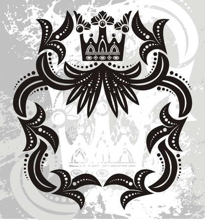 black princess: Frame Illustration