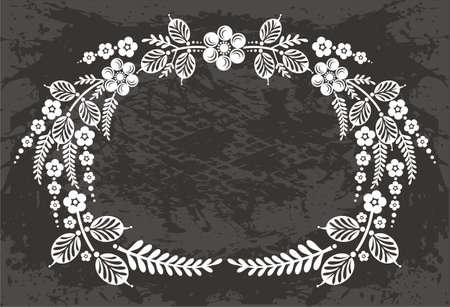 floral carpet: Frame Illustration