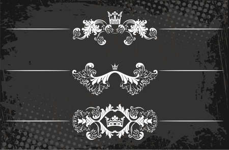 Regal rule line with crowns  Vector