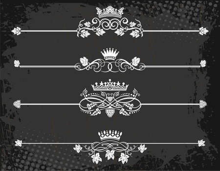 Regal rule line with crowns  Stock Vector - 13557788
