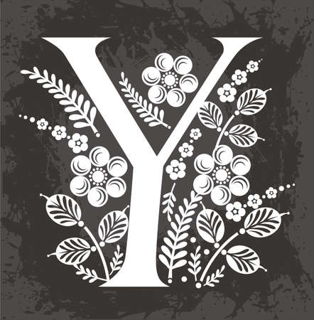 letter Y in the flowers