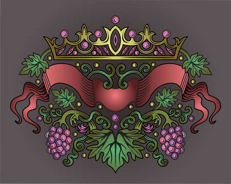 wine ribbon  Vector
