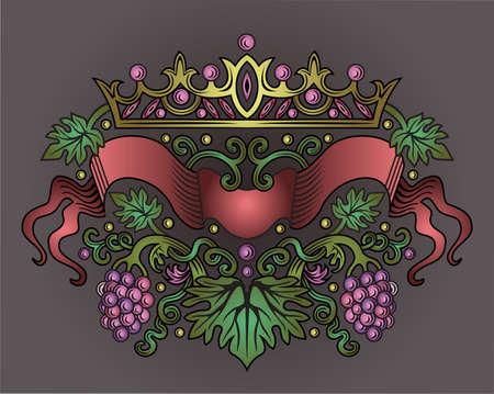 wine ribbon  Vector