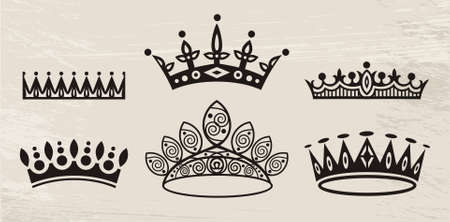 regal: set of crowns Illustration