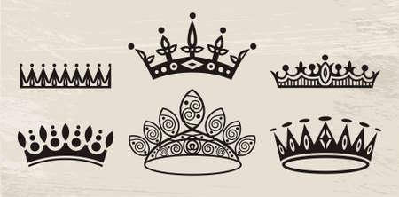 the corona: set of crowns Illustration