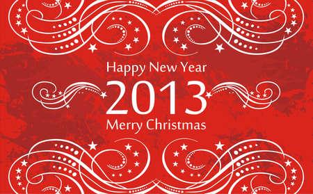 greetin: Happy new Year greetin card Illustration