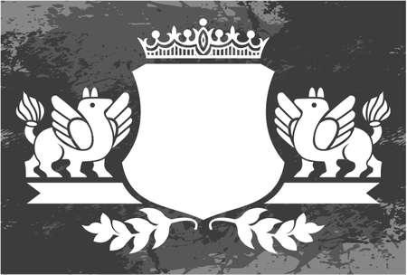 borde de flores: Marco floral blanco y negro con la corona