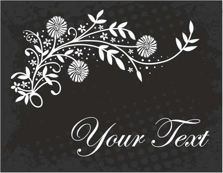 vintage floral frame: Vintage floral frame. Vintage elements for your design