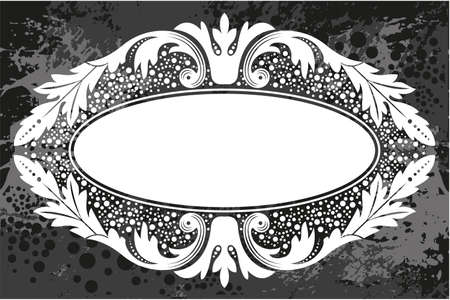 frame border: Black and white floral frame with branches