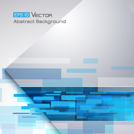 tone on tone: Abstract background with rectangles and blue color tone Illustration