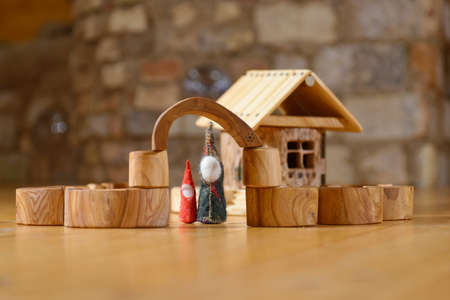 dwarfs: Dwarfs at the wooden hand made house