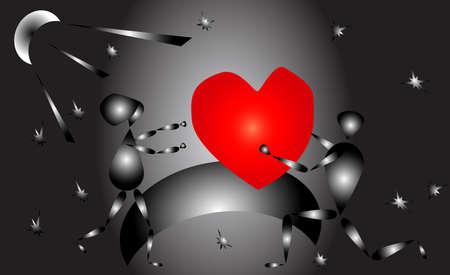 beloved: Donates the heart of the beloved Illustration