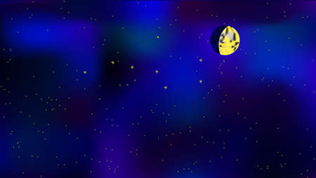 dipper: moon and big dipper in the sky