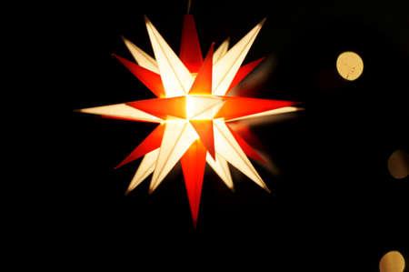an illuminated Christmas star Stock Photo - 17422603