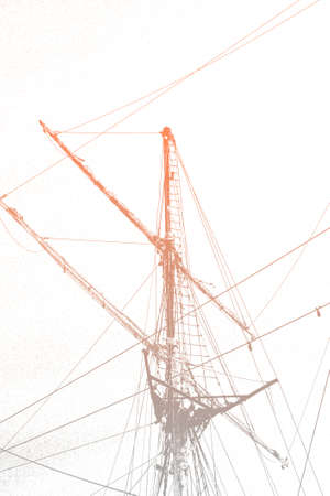 pictorial  representation: The pictorial representation of a sailboat mast