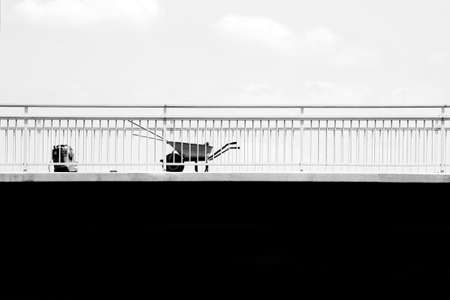 The photograph of a building site on a bridge Stock Photo - 20982153