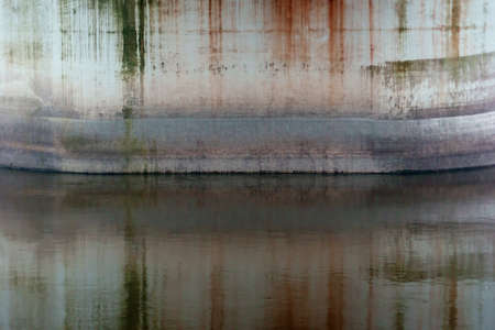 The abstract photograph of color patterns in the water    photo