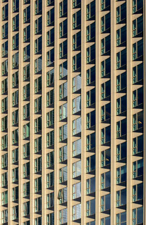 parallelogram: a facade with the uniform pattern of parallelograms                     Stock Photo