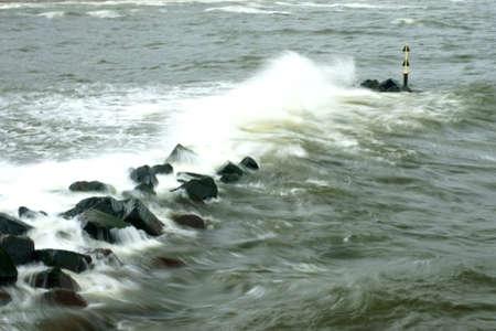 bulwark: The long time exposure of sea water in a breakwater of stones