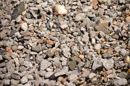 remediation: The photograph and closeup of a pile of rubble with rubble of a building site.