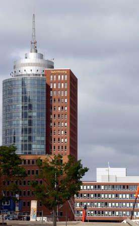 Hamburg, Germany - September 22, 2014: The modern Taylor Wessing skyscraper in the harbor city of Hamburg on September 22, 2014 in Hamburg.