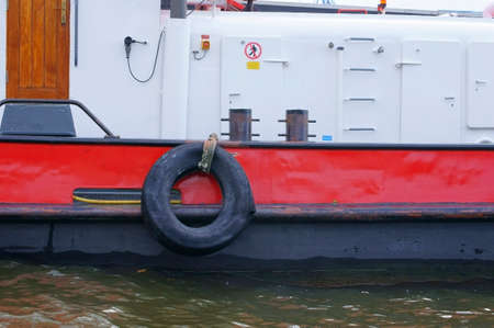 engine compartment: The side view of a ship with a view of the engine compartment. Editorial